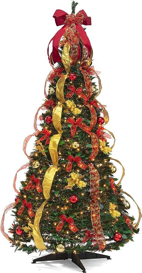 6 FT Christmas Thomas Kinkade Lighted Pop up Collectible tree Decoration