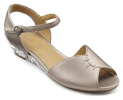 39e65b1b3f Hotter Womens Hallie Sandal Nickel Metallic 8 UK: Amazon.co.uk ...