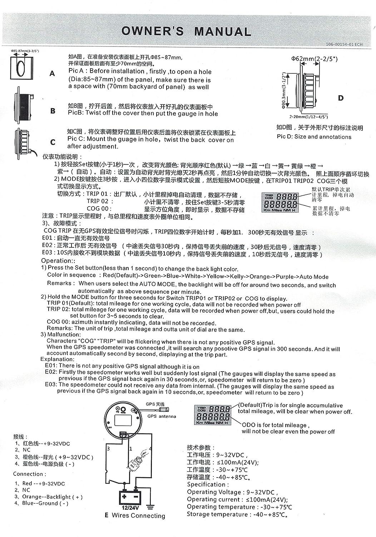 ELING - Velocímetro universal para barco GPS (0-35 nudos ...