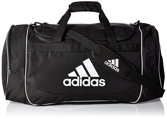 da15a3e5 Adidas Defense Large Duffel Black Fresh Pak Pocket Team Train Gym ...