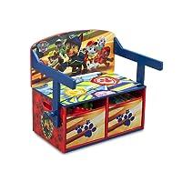 """Delta Children TB83332PW, Panca/scrivania, 3 in 1, Motivo """"Paw Patrol"""", in Legno, Dimensioni: 62,23 x 43,18 x 57,15 cm, Colore: Rosso"""