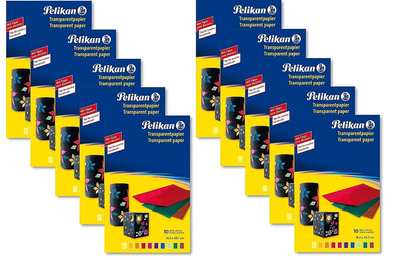 10 Packungen Pelikan 137935 - Glanzpapier gummiert, gesamt 100 Blatt B01MRNPMBA     | Bekannt für seine schöne Qualität
