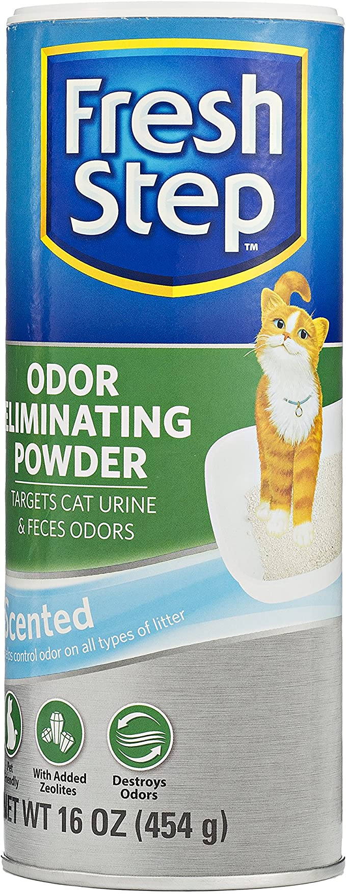 Fresh Step Cat Litter Box Odor Eliminating Spray and Powder- Cat Deodorizer Spray, Odor Eliminating Powder - Odor Neutralizing Cat Products for All Cat Litter - Easy to Use