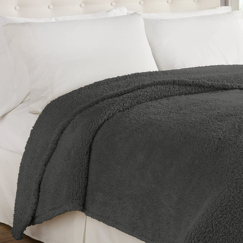Beautyrest Cosette Ultra Soft Blanket Twin Smoke Ellery Homestyles 16513BEDDTWNSMK