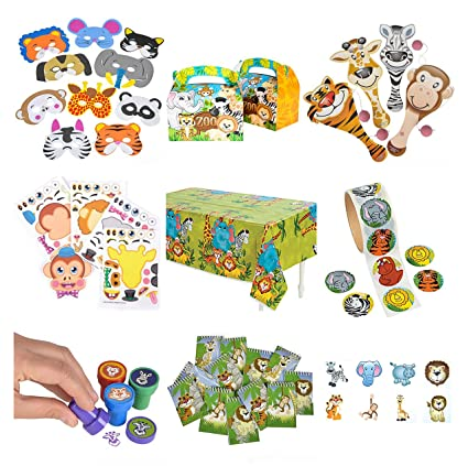 Amazon.com: Objetos fiesta Zoo Animal & Safari: 12  ...