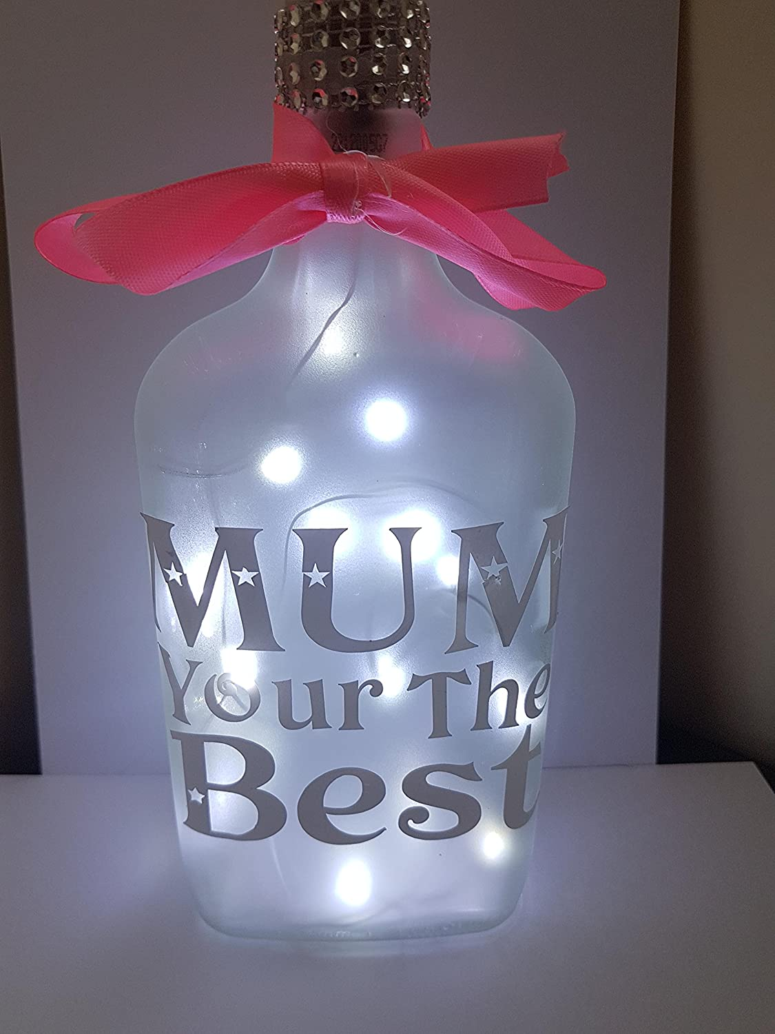 Mum light up frosted bottle