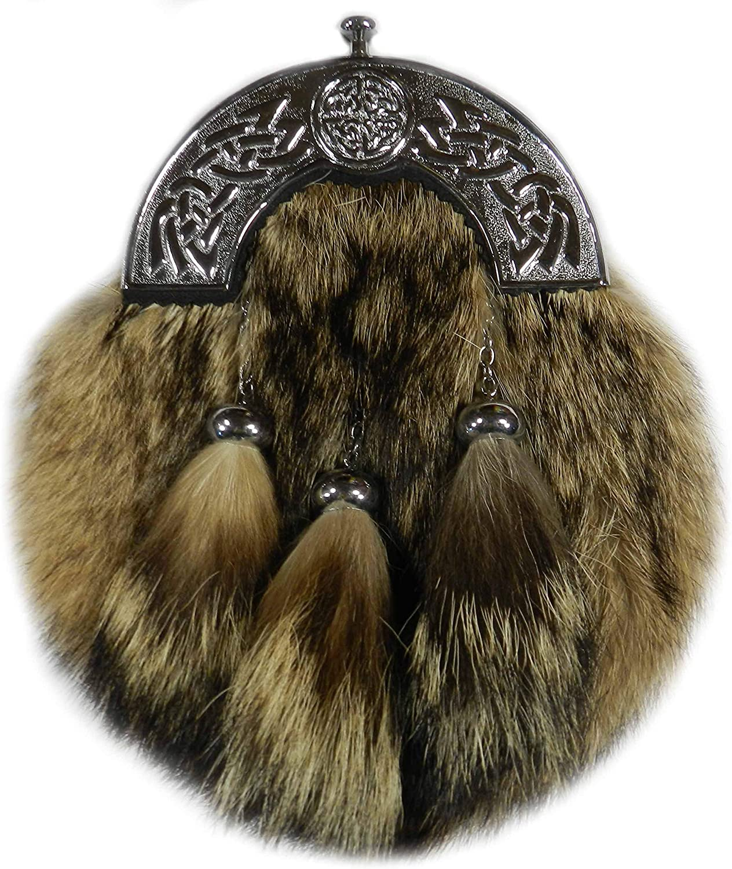 Scottish Thistle Mens Leather Wallet BLACK or BROWN Scottish Gift 371