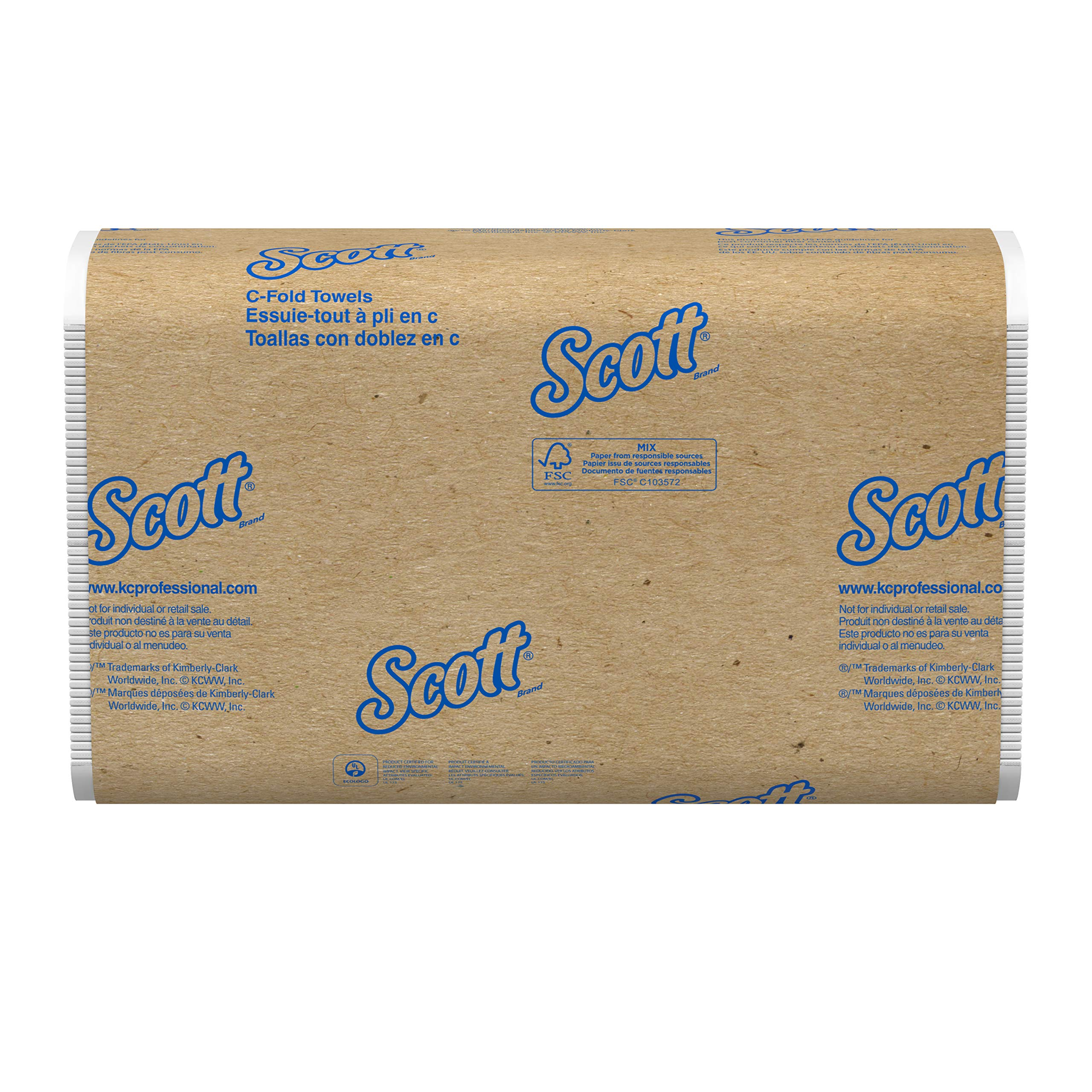 Scott Essential C-Fold Paper Towels (03623), Absorbency Pockets, White, 200 Towels/Pack, 9 Packs, 1,800 Towels/Convenience Case