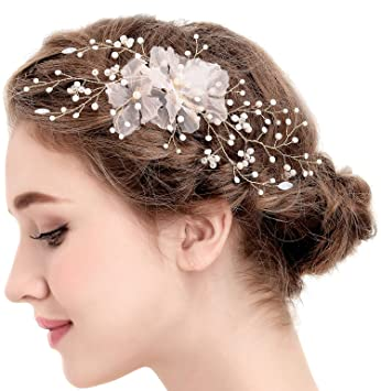 BABEYOND Vintage Flower Twig Wedding Hair Clips Bridal Headpiece Bridesmaids Prom Accessories Style2