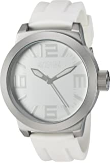 64e55bbd310e Kenneth Cole REACTION Unisex RK1225 Classic Oversized Round Analog Field  Watch