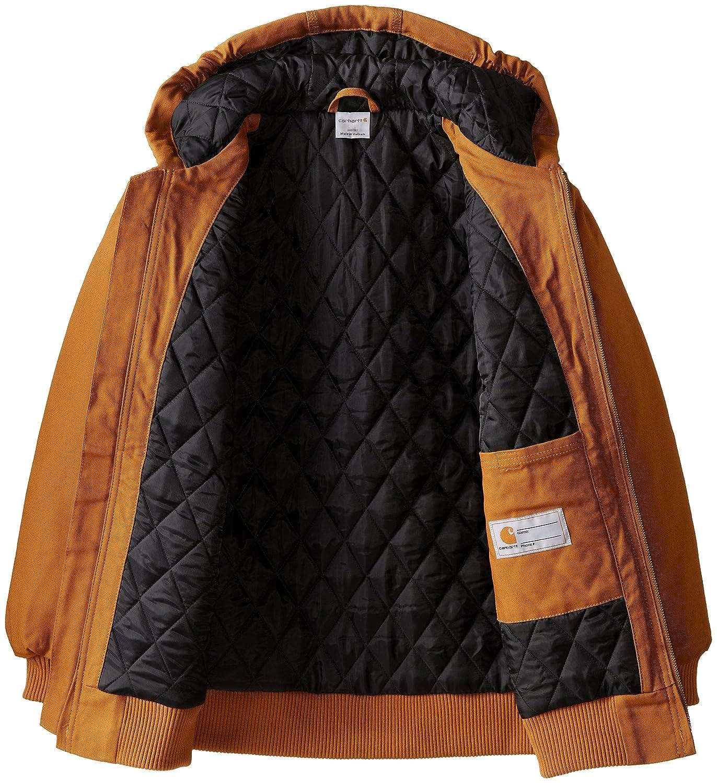Carhartt Boys Active Taffeta Quilt Lined Jacket Carhartt Brown 3T Free Shipping