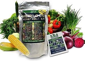 40 Variety Organic Seeds Vegetable Fruit Seeds Emergency-Survival Garden Food (Vegetable Seeds)