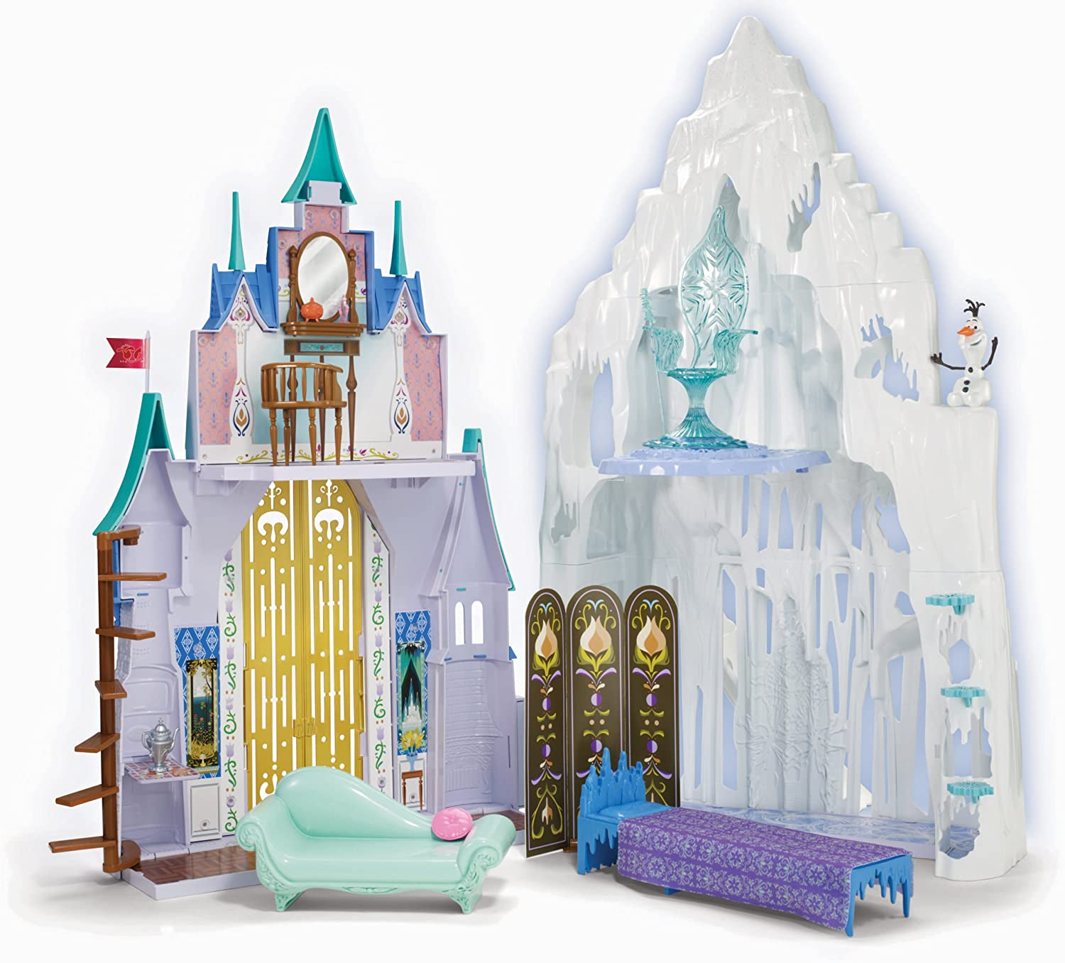 Great Xmas Gift Frozen Elsa Ice Castle Palace Playset Toy Princess Elsa /& Anna