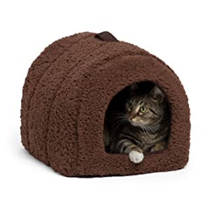 Best Friends by Sheri Pet Igloo Hut, Sherpa, Brown