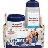 Aquaphor Baby Welcome Baby Gift Set - Healing Ointment, Wash and Shampoo, 3 in 1 Diaper Rash Cream