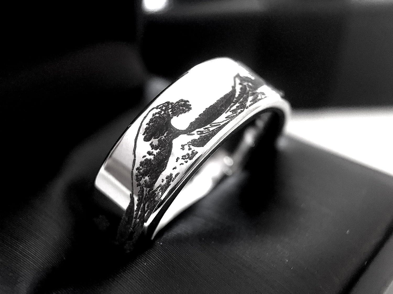 Amazon Wave Ring Ocean Pattern Engraved Tungsten Carbide Mens And Women Wedding Band Men's: Wave Pattern Wedding Ring I Do At Websimilar.org