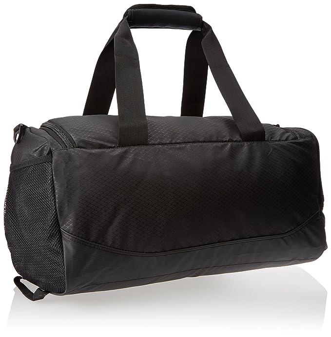 2242159672 Amazon.com  New Nike Team Training Max Air Small Duffel Bag Black Black  White  Sports   Outdoors