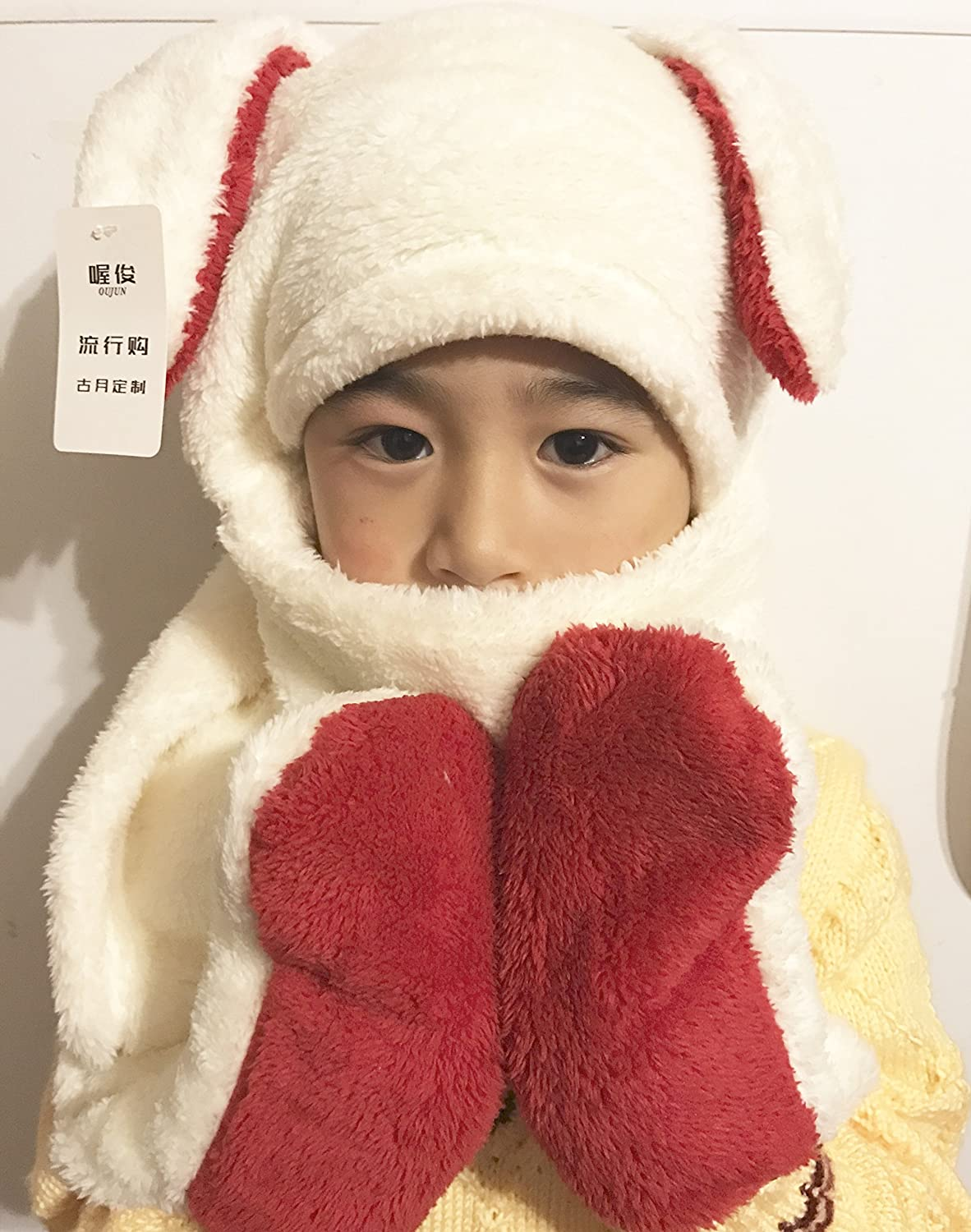 lynncollection ACCESSORY ガールズ B077XBC9VV Rabbit White and Red