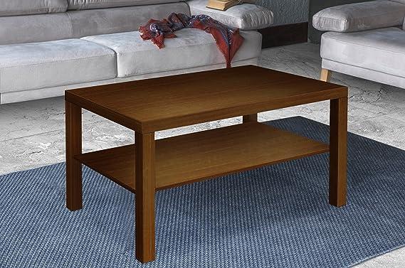 Furniture 247 - Mesa de centro rectangular con estante para ...