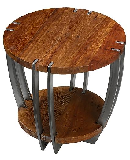 Astounding Amazon Com Bare Decor Ferry Metal And Wood End Table Lamtechconsult Wood Chair Design Ideas Lamtechconsultcom