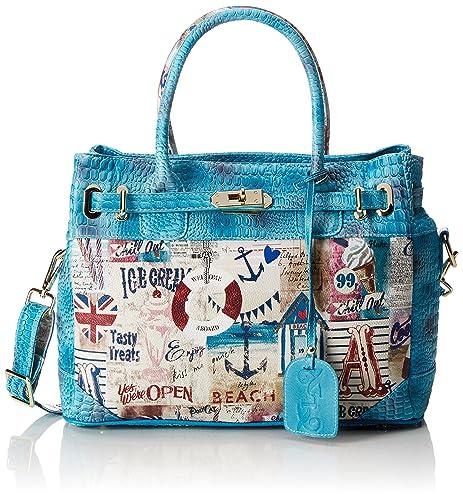 2ae891c07 Laura Vita 2016-18 - Bolso de mano de Cuero Mujer, color Azul, talla ...