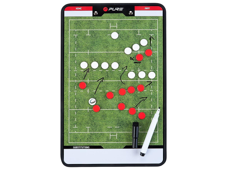 Pure2Improve p2i100670Accesorio de Entrenamiento de Rugby Unisex, Verde/Blanco PUSME|#Pure2Improve