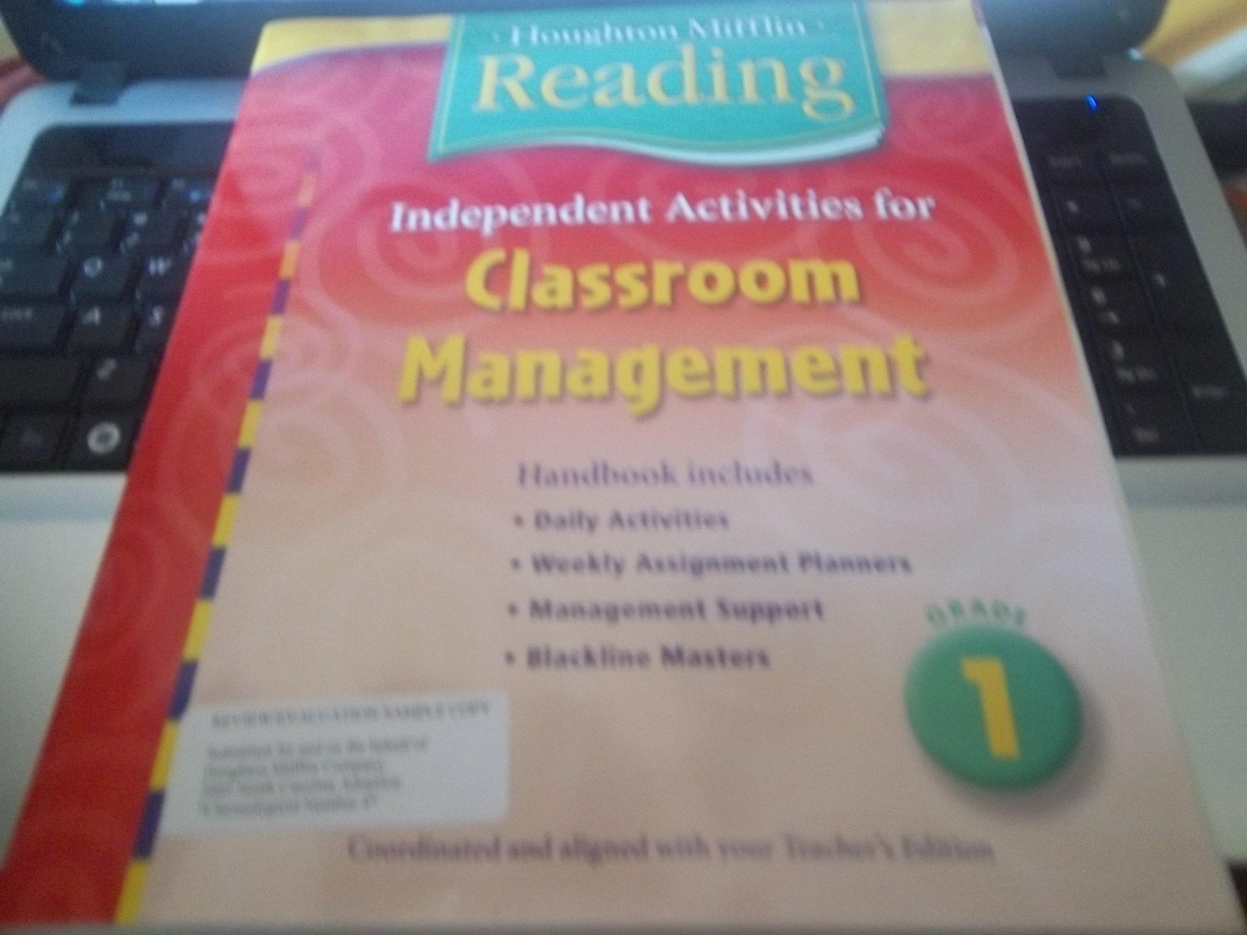 Houghton Mifflin Reading: Independent Activities for Classroom Management Handbook Grade 1 PDF