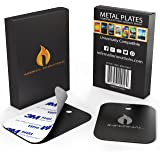 #1 Magnetic Phone Mount Extra Replacement Metal Plates Kit | 2 Pack | 3M Adhesive Backing | For Use With Universal Magnet Dashboard Windshield & Vent Holders | NEW RELEASE ON SALE