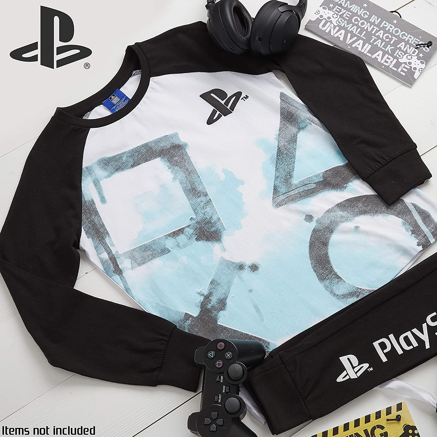 V/êtement D/étente Officiel Jeu Play Station Playstation Pyjama Garcon Id/ée Cadeau Adolescent Theme Jeux Vid/éo Pyjama Ado Garcons Ou Filles en Coton 7-15 Ans