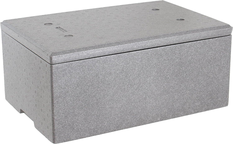 neopor térmica poliestireno Caja 60 x 40 x 26 cm Con Tapa de 39 L ...