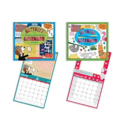 B-THERE Bundle of Two 16-Month Kids Activity and Drawing Calendars (2020) - Different Coloring Page or Activity for Each Month: Office Products