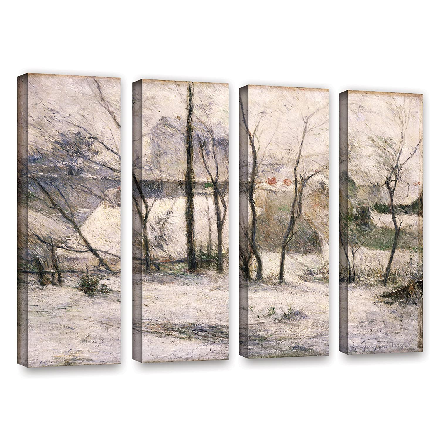 ArtWall Paul Gauguins Winter Landscape 4 Piece Gallery-Wrapped Canvas Set 36 x 48