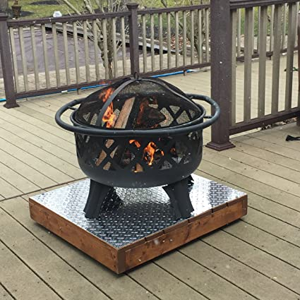 Glide-Easy Plus Rustic Hand Made Outdoor Heavy Duty Deck Patio Stand Rustic Fire  Pit - Amazon.com: Glide-Easy Plus Rustic Hand Made Outdoor Heavy Duty Deck