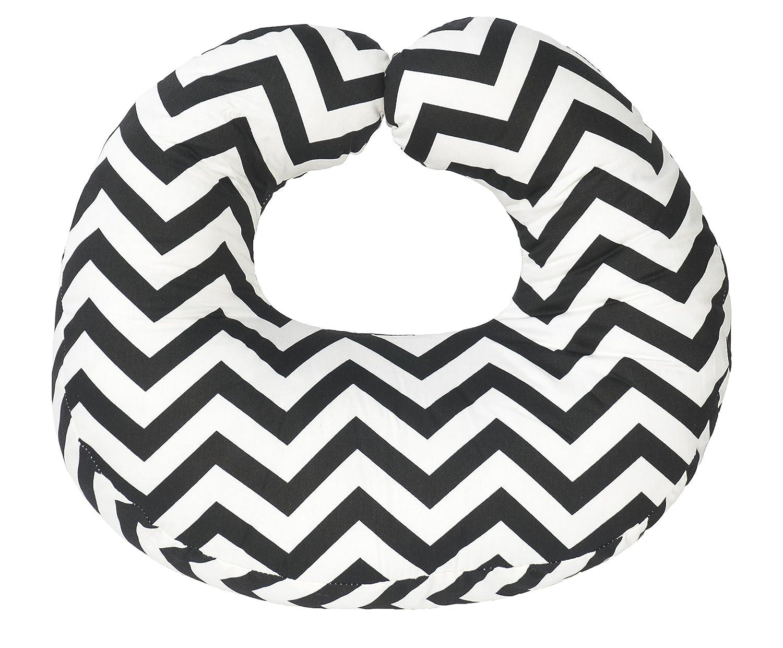 Jolly Jumper Hula Nursing Cushion- Black Chevron, Grey/White, One Size 239-14