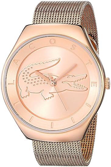 Lacoste 2000872 - Reloj de Pulsera Mujer, Acero Inoxidable, Color Oro Rosa