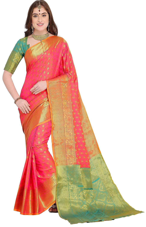 803816418af67 EthnicJunction Booti Zari Butta Banarasi Silk Saree With Zari Thread Work  Unstitched Blouse Piece(EJ1178-7980