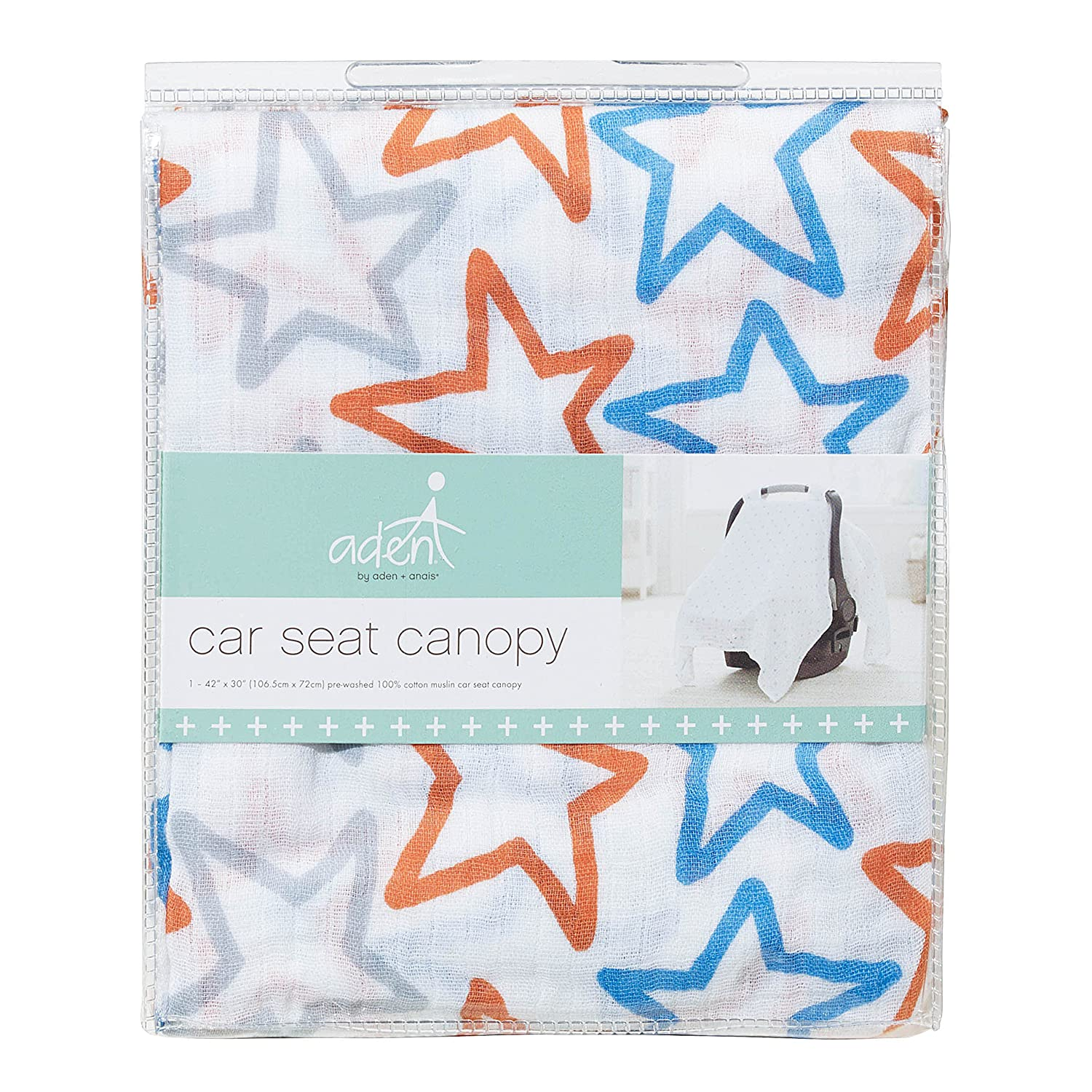 anais Car Seat Canopy 100/% Cotton Muslin small fry aden by aden