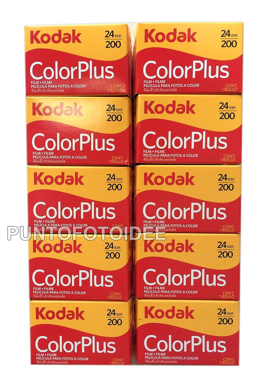 35 mm 200//24 lote de 10 unidades Pel/ícula fotograf/ía carrete 10 carretes Kodak Color Plus