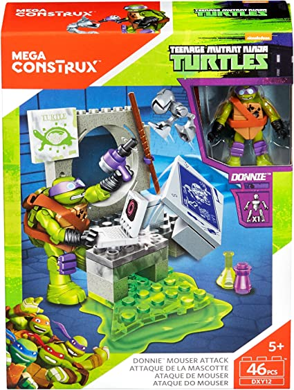 Mega Construx Teenage Mutant Ninja Turtles Donnie Mouser Attack Building Set NEW