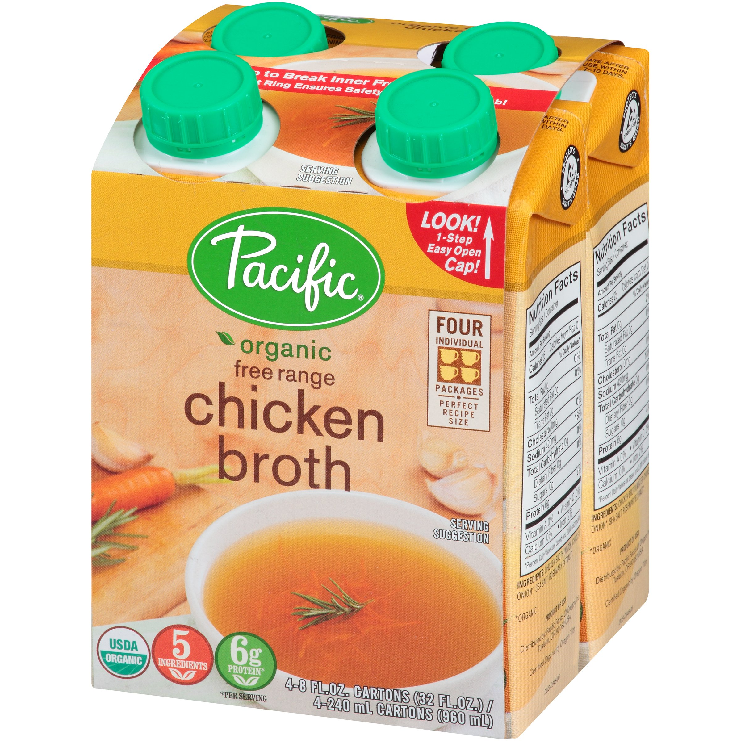 Pacific Natural Chicken Broth (6x4x8 Oz) by Pacific Natural Foods (Image #3)