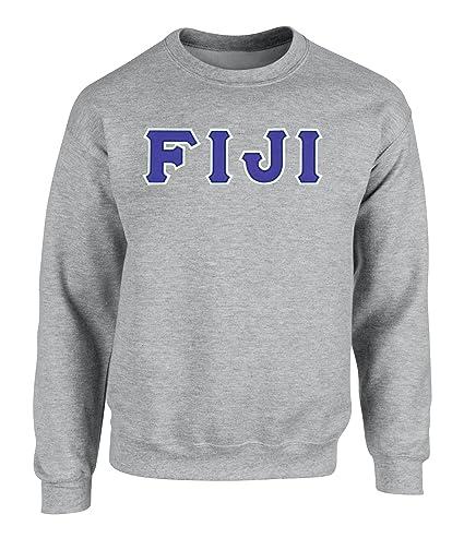 Amazon.com: Phi Gamma Delta FIJI Twill Letter Crewneck Sweatshirt ...