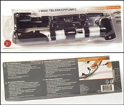 Mini-bomba telescópica, bomba de aire para bicicleta, aprox 23 cm ...