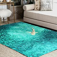 ALAZA Underwater World Shark Hunting Fish Area Rug Rugs for Living Room Bedroom 7' x 5'