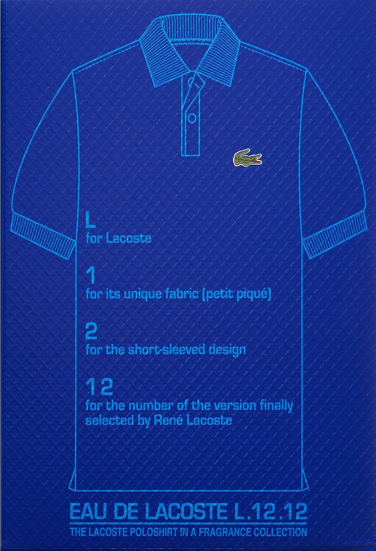 Amazon.com  Lacoste Eau de Lacoste L.12.12 Bleu Eau de Toilette for Men,  1.6 fl. oz.  Lacoste Eau De Lacoste L.12.12 Bleu - Powerful  Luxury Beauty 89c4173d8dea