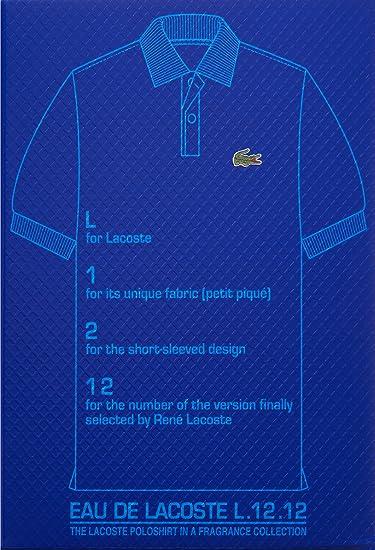 dbe88cd5e5 Buy Lacoste Eau De Lacoste L.12.12 Bleu Men Eau-de-toilette Spray by Lacoste,  3.3 Ounce Online at Low Prices in India - Amazon.in