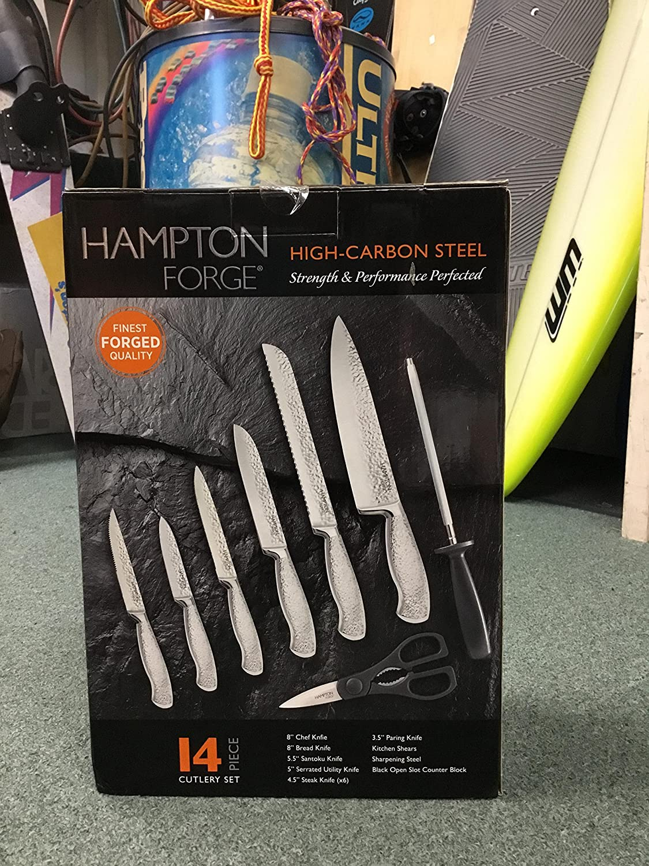 amazon com hampton forge high carbon steel 14 piece cutlery set