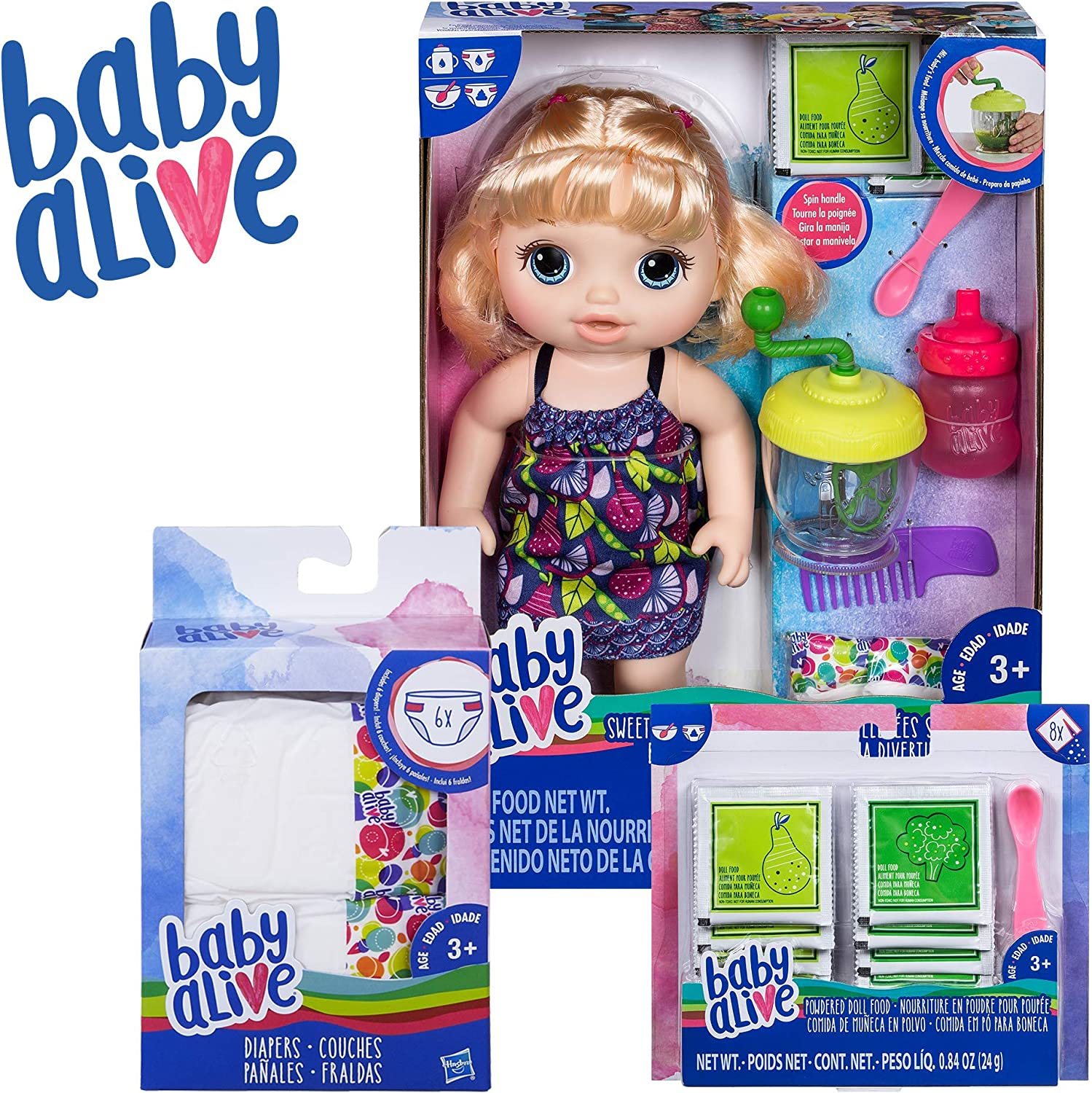 Ages 3 and up Amazon... Baby Alive Diapers Refill Pack Dolls 32 Diapers