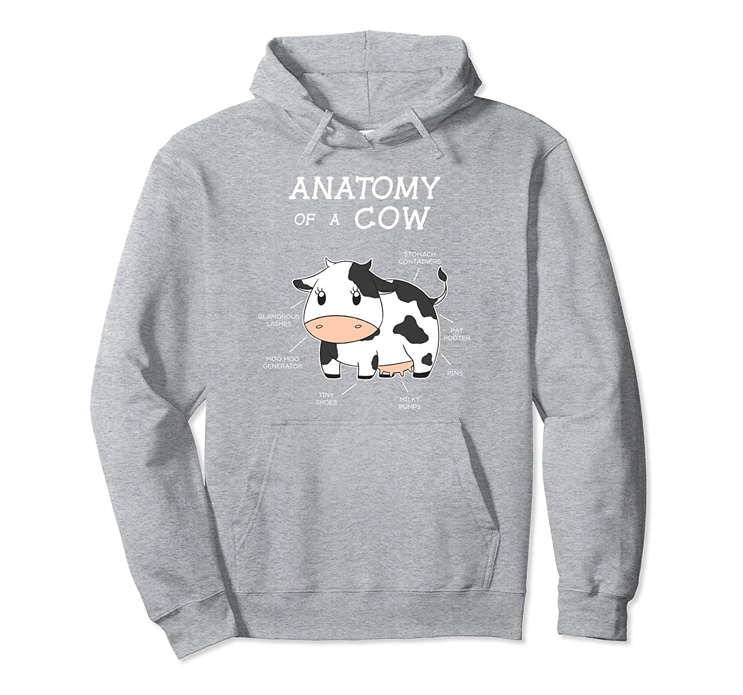 Amazon.com: Anatomy Of A Cow Funny Cattle Body Parts Hoodie: Clothing