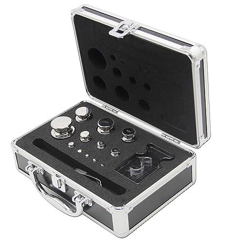 Huanyu - Juego de pesas de calibre E2 316 de acero inoxidable para calibrar báscula digital