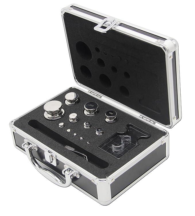 Huanyu - Juego de pesas de calibre E2 316 de acero inoxidable para calibrar báscula digital, 11 unidades: Amazon.es: Bricolaje y herramientas